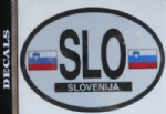 Slovenia Country Flag Oval Decal.